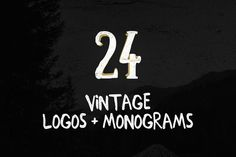 Check out 24 Vintage Logos + Monograms Pack by DesignLux on Creative Market