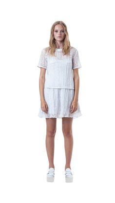 65080b48277 Stolen Girlfriend s Club  Cracked Crystal  Mini Skirt  white  trend   fashion  smith caugheys. Smith   Caughey s