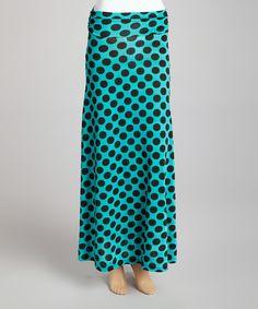 Teal Polka Dot Maxi Skirt. Lovveee this!!!!!!