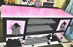 Diy minnie mouse dresser furniture