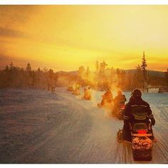 Glorious snowmobiling day. Levi, Finland