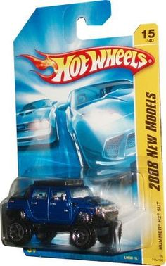"Hot Wheels 1:64 Diecast car ""2008 NEW MODELS"" HUMMER H2 SUT BLUE 15 OF 40 (08 015/196) by Mattel. $6.99. Hot Wheels  ""2008 NEW MODELS"" HUMMER H2 SUT BLUE 15 OF 40 (08 015/196) 1:64 Scale Collectible Die Cast Car. 1:64 diecast car"