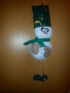 snehuliačik na dvere z filcu