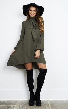 With its long back and shorter front, it's perfect to show some leg without revealing too much from behind. Adding a touch of class with the bow at the front. Team it with some tights for the colder months and rock your tan during summer!
