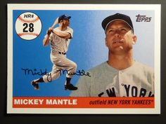 2006 #TOPPS Baseball Card MICKEY MANTLE MHR 28 Home Run History SP NrMint Yankees #NewYorkYankees #makeanoffer #onsale