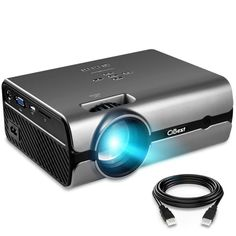 Projector, CiBest Video Portable Projector Works with the latest laptops and media players Projector Reviews, Best Projector, Movie Projector, Portable Projector, Ceiling Projector, Outdoor Projector, Latest Laptop, Home Theater Projectors