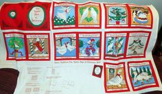 Fabric Vintage Sewing Book 12 DAYS OF CHRISTMAS  A12