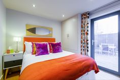 Pitville Mews master bedroom onto the courtyard. #cheltenham #servicedapartments #interior