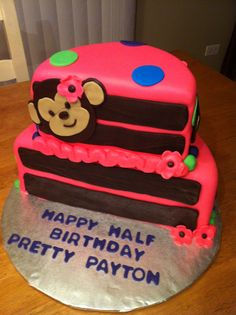 Half Birthday Cake cute idea for kids who get gipped by a December