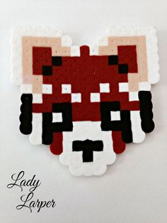 Red Panda Home Decor Pixel Art by LadyLarper on Etsy