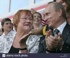 Stock Photo - Finnish President Tarja Halonen and Russian President Vladimir Putin at the opening gala of the international Finno Ugrian Vladimir Putin, Presidents, In This Moment, Stock Photos, Couple Photos, Couples, Celebrities, Face, Couple Shots