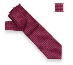 Façonnée H Bicolore  Faconnee two-tone tie in Purple/Fuschia, hand folded