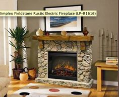 Rustic ELECTRIC fireplace from Dimplex