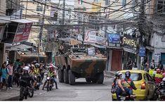 Exército cerca os principais acessos da favela da Rocinha, na zona sul, para conter guerra de traficantes.