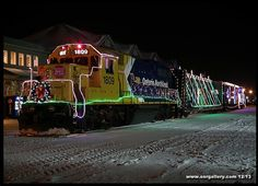 Here's a photo of Ontario Northland's Christmas Train captured at Cochrane back in 2013. Click on http://www.onrgallery.com/christmastrain.htm for this year's schedule!