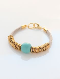 Grey Brass Loops Bracelet | BRIKA - A Well-Crafted Life