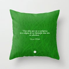 Dangerous Ideas Throw Pillow by Growing Ideas - $20.00