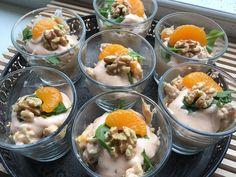 Heerlijke kipcocktail (of garnalencocktail) met walnoten en mandarijntjes