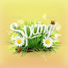 Spring Background Vector EPS. Download here: https://graphicriver.net/item/spring-background/13511323?ref=ksioks