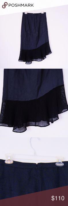 Tibi Black Below Knee Mesh Trim Skirt  ✨ Like new Tibi midi skirt! ✨ Size 4 Zips up in the back Length: 29 in. Length of black mesh trim: about 9 in. Goes just past knees on a 5'8 model No trades, thanks I can negotiate for reasonable offers! Tibi Skirts Midi