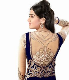 Suhaag full hindi movie amitabh bachchan shashi kapoor mahi fashion blue embroidered semi stitched anarkali dress material in rs2950 altavistaventures Gallery