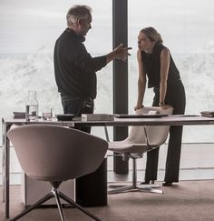 """""""A first look at Mr. Hinx (Dave Bautista) and Dr. Madeleine Swann (Léa Seydoux with Director Sam Mendes) from 007 Contra Spectre, James Bond 007 Spectre, Spectre 2015, The Spectre, James Bond Movie Posters, Action Movie Poster, Action Movies, Cult Movies, Dave Bautista"""