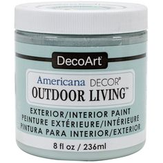 NEW! Americana Decor Outdoor Living Paint 8oz-Frosted Glass