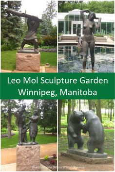 Leo Mol Sculpture Garden in Winnipeg's Assiniboine Park: Bronze pieces of art by master sculpture Leo Mol amid trees and flowers in a Winnipeg park. Order Of Canada, Bush Pilot, Canadian Travel, Visit Canada, Family Picnic, Banff National Park, Decorating Blogs, Amazing Destinations, Trip Planning