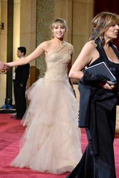 in Marchesa at the 2014 Oscars