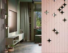 MOPS / Renovation of the livingroom Feature Wall Design, Wall Panel Design, Partition Design, Hotel Room Design, Bedroom Closet Design, Main Door Design, Entrance Design, Contemporary Interior Design, Home Interior Design