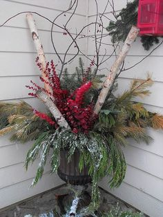 Winter container for Christmas