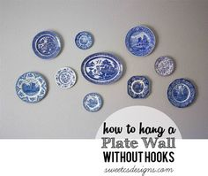 Wall Hangers For Plates New Heirloom Plate Wall Made Easy  Pinterest  Plate Wall Plate Design Ideas