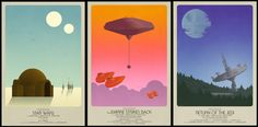 Image of Star Wars Classic Trilogy Set- 3 Posters (2 sizes)