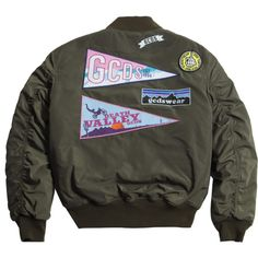 GCDS, aka 'God Can't Destroy Streetwear' is a Made-In-Italy streetwear brand founded in Shop now the new collection. Denim Jacket Patches, Green Bomber Jacket, Tomboy Fashion, Women's Fashion, Military Fashion, Military Style, Streetwear Brands, Sweatshirts, Outerwear Jackets