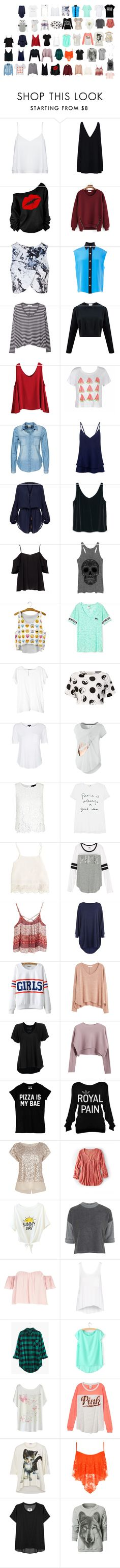 """shopping top list"" by hopecutyorange ❤ liked on Polyvore featuring Alice + Olivia, STELLA McCARTNEY, Topshop, FAUSTO PUGLISI, MANGO, WithChic, Ally Fashion, Vero Moda, Markus Lupfer and ViX"