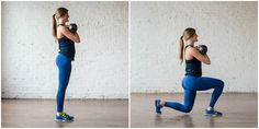 7 calorie torching kettlebell moves hiit workout | torch calories while simultaneously strengthening your entire body with this killer kettlebell workout. do it reps sets style or amrap style; either way it's an effective, high intensity 20-minute workout! | www.nourishmovelove.com