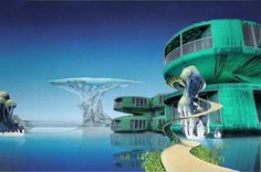 Patrick Nagel, Roger Dean, 70s Sci Fi Art, Cool Album Covers, Futuristic Interior, Alien Worlds, Stay Weird, Progressive Rock, Fantasy Illustration