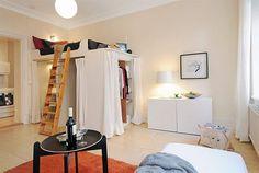 closet/loft/bed | Small House Interior Design Ideas