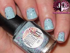 Lazy Lacquerista: Happy First Birthday Shades of Phoenix :: Little Miss Bad Swatch