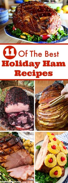 Looking high and low for recipes, trying to find just the right one for your holiday dinner? Any of these mouthwatering holiday hams will be perfect...the hard part's just going to be narrowing down your choices! via @funmoneymom #hamrecipe