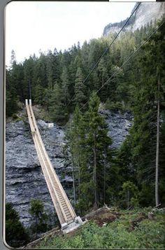 Zweiter Traversine  r Steg, Viamala     Traversinersteg – Bilder Bau Traversinatobelbrücke