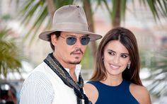 Download wallpapers Johnny Depp, Penelope Cruz, American actors, celebrities