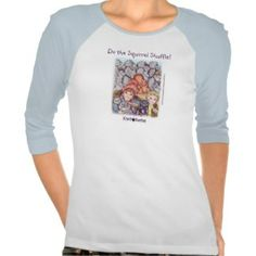 A top bearing The Squirrel Shuffle design from Kiwi and the Missing Magic. Illustration copyright Nikki McBroom.