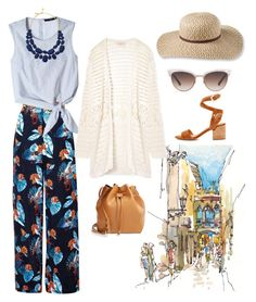 """""""Vacation in Spain"""" by gelatobaby on Polyvore featuring We Are Handsome, TIBI, Sigerson Morrison, Tory Burch, Kate Spade, Gucci, L.L.Bean and Sole Society"""
