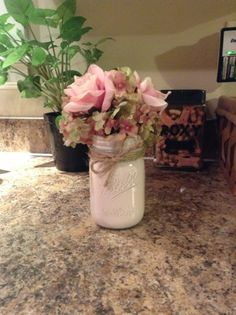 Easy DIY Vintage Mason Jar Flower Vase