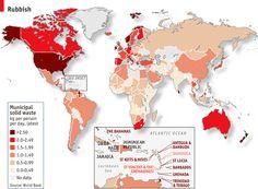 Generación de residuos a nivel mundial