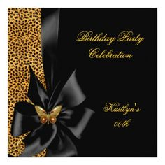 birthday_party_gold_cheetah_black_butterfly_invitation-r61ea8779cca746909d1d49c7bce4185f_zk9yi_324.jpg (324×324)