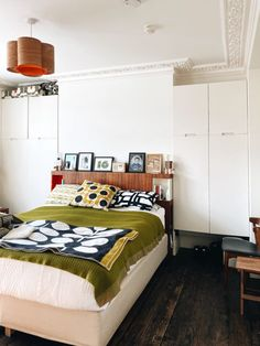 Journalist and interiors expert Kate Watson-Smyth aka madaboutthehouse looks ar clever ways to create more storage at home False Wall, Narrow Shelves, Mad About The House, Small Corner, A Shelf, Crib Sheets, Built In Storage, Mid Century Design, Midcentury Modern