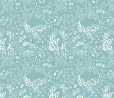 Beautiful Ocean  fabric by ellila on Spoonflower - custom fabric