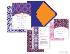 Turkish/Morocco Wedding Invitations by WhoaNelliePress on Etsy